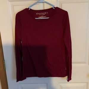 Aéropostale red long sleeve shirt